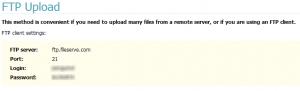FileServe的Ftp信息